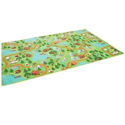 Kinder Spiel Teppich Campingplatz Spielteppiche bunt Gr. 133 x 133