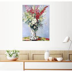 Posterlounge Wandbild, Blumenstrauß aus Gladiolen, Lilien und Margeriten 50 cm x 70 cm