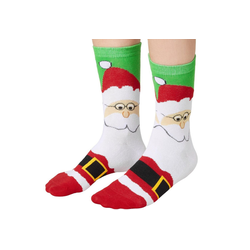 tectake Kuschelsocken Weihnachtssocken mit Weihnachtsmann-Motiv (1-Paar) 47-50