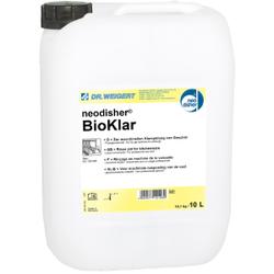 Dr. Weigert neodisher® Bioklar Klarspüler, Klarspülmittel für Geschirr-, Container-, Topf- und Gerätespülmaschinen, 10 Liter - Kanister