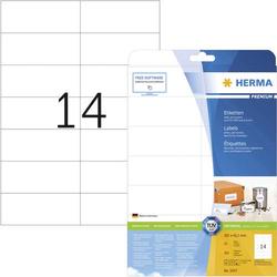 Herma 5057 Etiketten 105 x 42.3mm Papier Weiß 350 St. Permanent Adress-Etiketten, Frankier-Etikette