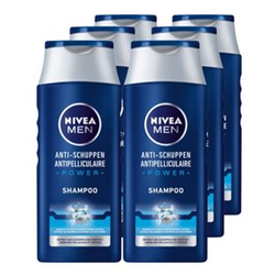 NIVEA Men Anti-Schuppen Power Shampoo 250 ml, 6er Pack