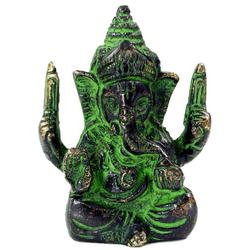 Guru-Shop Dekofigur Messingfigur Ganesha Statue 6 cm - Motiv 8