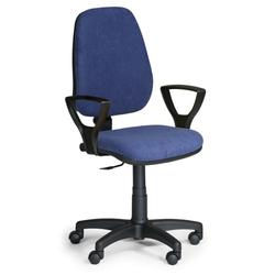 Bürostuhl comfort pk, mit armlehnen, blau