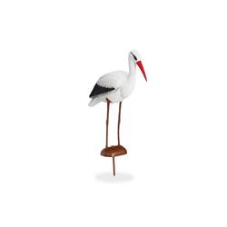 relaxdays Gartenfigur Gartenfigur Storch