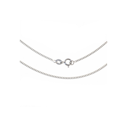Bella Carina Silberkette rhodiniert 1,4 mm, 925 Silber rhodiniert 70 cm