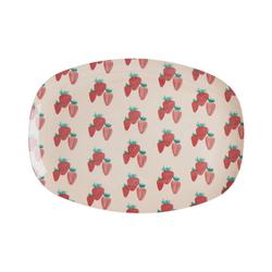 """rice Servierplatte Melamin Servier-Teller """"Erdbeere"""", 30 x 22 cm"""
