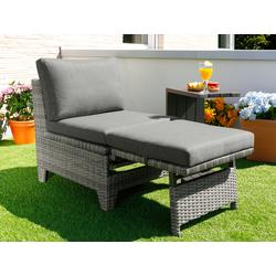KONIFERA Balkonset Elba, (5 tlg.), mit Beistelltisch TOPSELLER grau Gartenmöbel-Sets Gartenmöbel Gartendeko