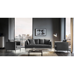 Places of Style Sofa Newberry grau
