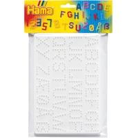 Hama Bügelperlen Midi - Stiftplatten im Beutel - Buchstaben Zahlen