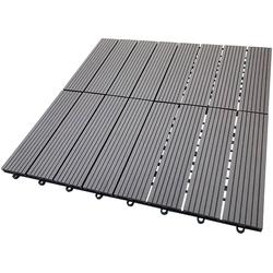 HOME DELUXE Terrassenplatten, 30x30 cm, 33-St., WPC-Fliesen
