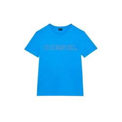 Diesel Unterhemd Herren T-Shirt, UMLT-JAKE HEMD, Rundhals, Print, blau S