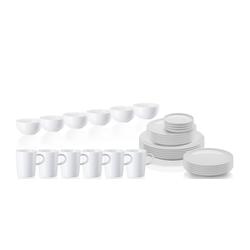 ARZBERG Geschirr-Set Kombi-Set 30 tlg. mit Henkelbechern 0.28 l und Müslischalen - CUCINA Weiß