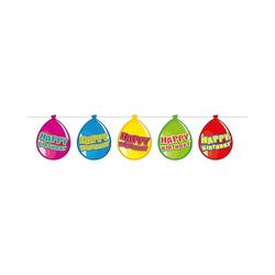 Kunstgirlande Wimpelgirlande Ballon Happy Birthday, 10 m, Folat