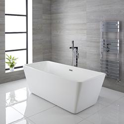 Moderne Eckige Freistehende Badewanne aus Acryl 1615x720mm - Elswick