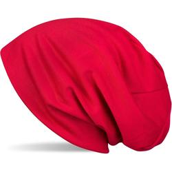 styleBREAKER Beanie Uni Slouch Beanie Mütze Uni Slouch Beanie Mütze rot