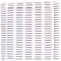 KraftKids Wickelauflage in graue Striche auf Weiß, Wickelunterlage 85x75 cm (BxT), Wickelkissen