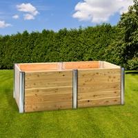 DEMA Hochbeet Holz Premium Duo rechteckig 210x109x75 cm