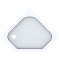 Geberit 5-Eck-Duschwanne RENOVA 900 x 900 mm weiß