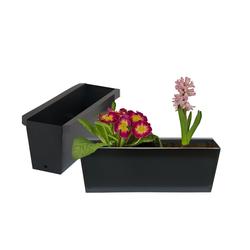 BigDean Blumenkasten Pflanzkasten Palette Paletten Pflanzkübel 35,5 x 12,5 x 12 cm Palettenkasten (6 Stück)