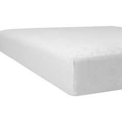 Massageliegenbezug Flausch-Frottee, Kneer weiß Spannbettlaken Bettlaken Betttücher Bettwäsche, und Laken