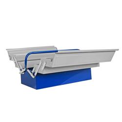 ADB Metall Werkzeugkasten Werkzeugkiste Werkzeug Kasten Kiste leer grau-blau