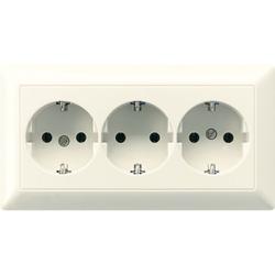 Jung AS523,Kabelkanal-SCHUKO® Steckdose, 3fach, 16 A 250 V ~, Duroplast, Serie AS, weiß