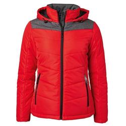 Sportliche Damen Winterjacke | James & Nicholson red/anthracite-melange XL