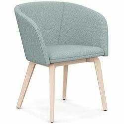 NAUDU Sessel mit 4-Fuß-Holzgestell, vollgepolstert