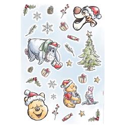 Komar Wandsticker Winnie Pooh Christmas (Set), 50 x 70 cm (Breite x Höhe) - 26 Sticker
