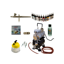 Airbrush-City Druckluftwerkzeug Modellbau Airbrush Set - Ultra Airbrushpistole - Sparmax TC-610H-n Kompressor - Kit 9009, (1-St)