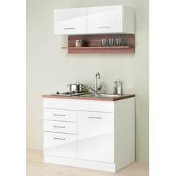HELD MÖBEL Küchenzeile Monaco, Breite 100 cm weiß