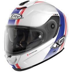 X-Lite X-903 Senator N-Com Helm, weiss-rot-blau, Größe XL