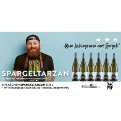 6er-Set Spargeltarzan Weißweincuvée trocken 2020 & WMF Spargelschäler