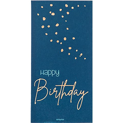 "Servietten ""Happy Birthday"" in Blau"