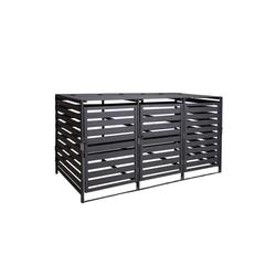 MCW Mülltonnenbox MCW-H62-XL, erweiterbar, abschließbar grau