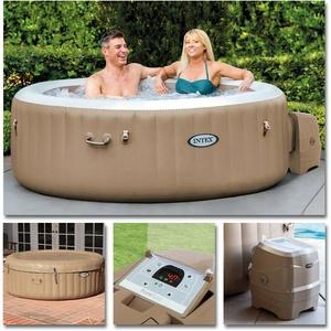 INTEX Whirlpool Pure SPA 196x71 Bubble Massage für 4 Personen Kalkschutz