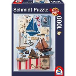 Schmidt Spiele Puzzle Schmidt 58381 - Premium Quality - Maritimes Potpourri, 1000 Teile Puzzle, 1000 Puzzleteile