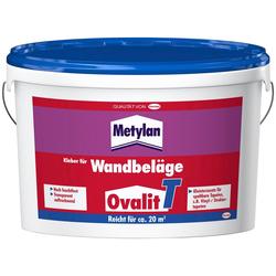 Metylan Tapetenkleber Ovalit T, (2-tlg), 2 x 5 Kg Eimer, für Textiltapeten, textile Wandbeläge, grobe Gewebetapeten, Metalltapeten