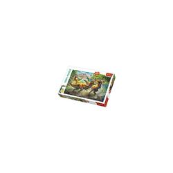 Trefl Puzzle Puzzle 160 Teile - Kämpfende Dinosaurier, Puzzleteile
