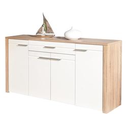 ebuy24 Sideboard Abcent Sideboard 1 Schublade, 4 Türen Sonoma Eiche