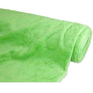 Plüschstoff, hellgrün