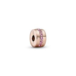 Pandora Bead Pandora Rose Clip Pink