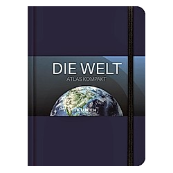 KUNTH Taschenatlas Die Welt - Atlas kompakt  blau - Buch