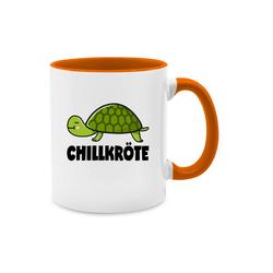 Shirtracer Tasse Chillkröte - Tasse zweifarbig - Tassen, Statement Tasse