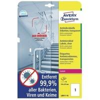 Zweckform Avery Zweckform Etikett L8011-10 antimikrobiell 210x297mm tr 10St.