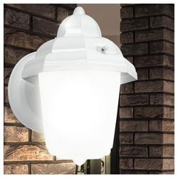 EGLO LED Laterne, Moderne Außen Beleuchtung Wand Lampe Leuchte Laterne weiß E27 Strahler Eglo 30437