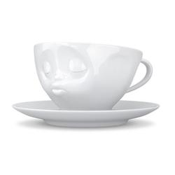 TV Tassen TV KaffeeTasse mit Henkel weiß küssend 0,20 L TV Tassen 14201