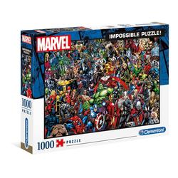 Clementoni® Puzzle 39411 Marvel Impossible 1000 Teile Puzzle, 1000 Puzzleteile bunt