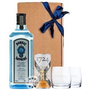 Bombay Sapphire Gin Geschenkset mit Tonic Water & 2 Tumblern